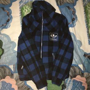 Checkered adidas jacket